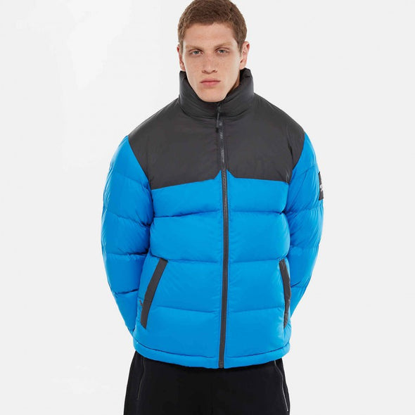 THE NORTH FACE MEN'S 1996 RETRO NUPTSE JACKET - Bomber Blue / Asphalt Grey