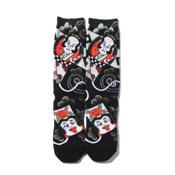 "THREE TIDES TATTOO × UBIQ ""IREZUMI"" SOCKS (Tako) Designed by Horihiro BLACK"