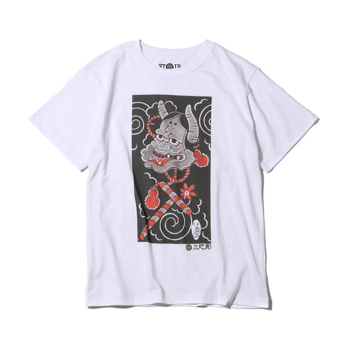 "Ubiq Three Tides Tattoo × Ubiq ""irezumi"" Hannya White"