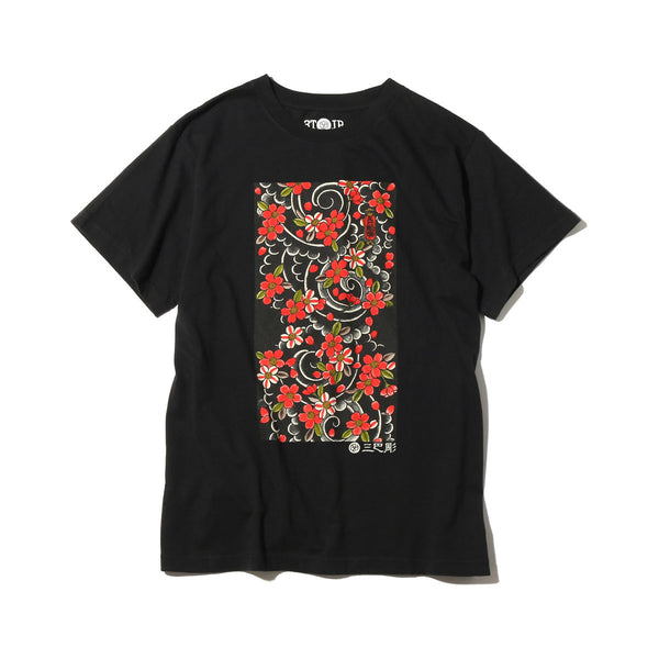 "Ubiq Three Tides Tattoo × Ubiq ""irezumi"" Sakurafubuki Black"