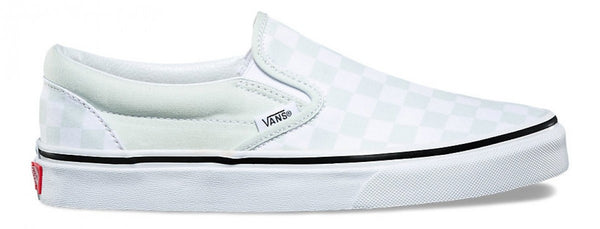 VANS CLASSIC SLIP ON (CHECKERBOARD) - Powder Blue/White