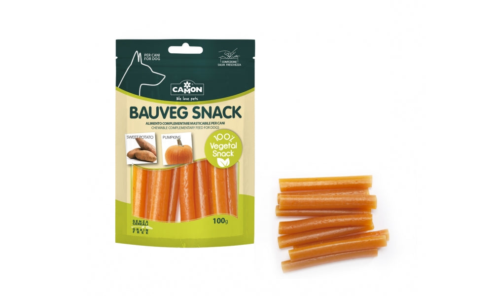 "Snack vegetali ""Bauveg con patata dolce e zucca"" - Animal Farm by Camon"