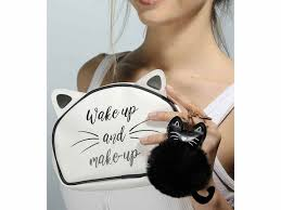 "Beauty pochette gatto ""Wake Up And Make Up!"""