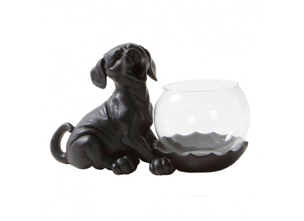 Porta tealight con cagnolino - Happy House
