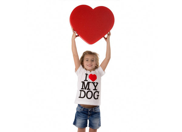 T-shirt da bimbo - I Love My Dog
