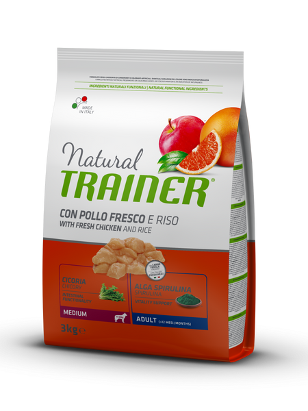 "Croccantini per cani ""Natural Trainer Medium Adult al Pollo"" - Trainer"