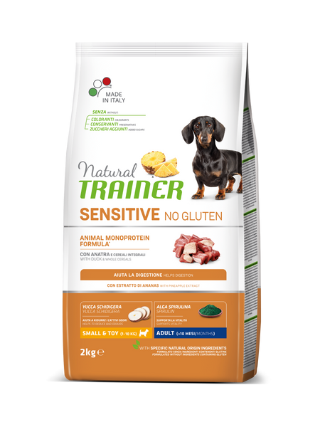"Croccantini per cani ""Natural Trainer Sensitive No Gluten Mini Adult all'anatra"" - Trainer"