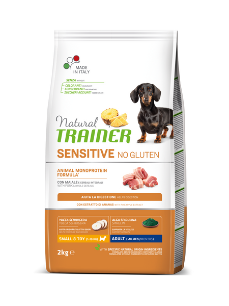 "Croccantini per cani ""Natural Trainer Sensitive No Gluten Mini Adult al maiale"" - Trainer"