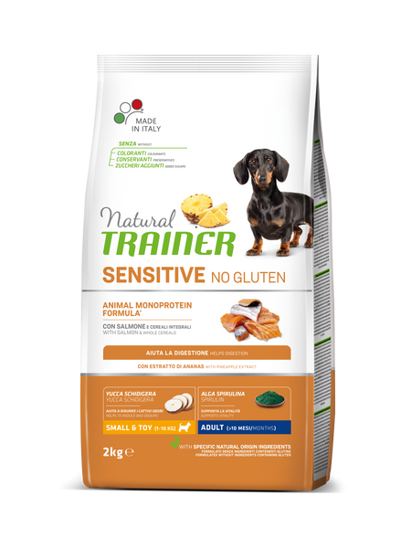 "Croccantini per cani ""Natural Trainer Sensitive No Gluten Mini Adult al salmone"" - Trainer"