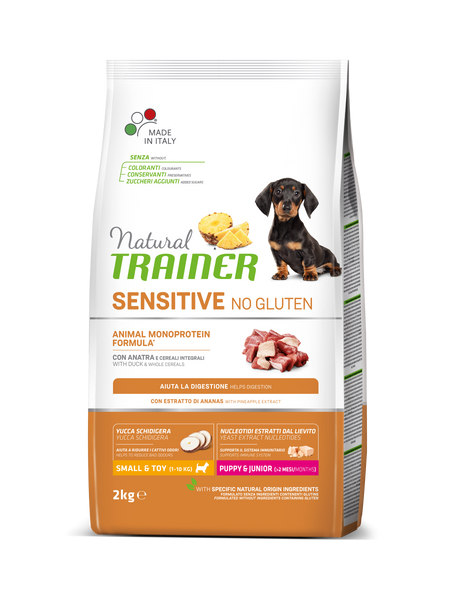 "Croccantini per cani ""Natural Trainer Sensitive No Gluten Mini Puppy&Junior all'anatra"" - Trainer"