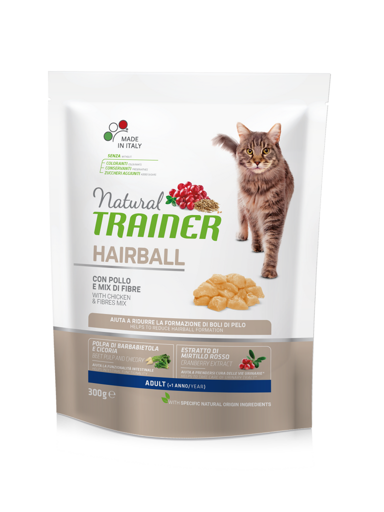 "Croccantini per gatti ""Natural Trainer Hairball Adult con Pollo"" - Trainer"