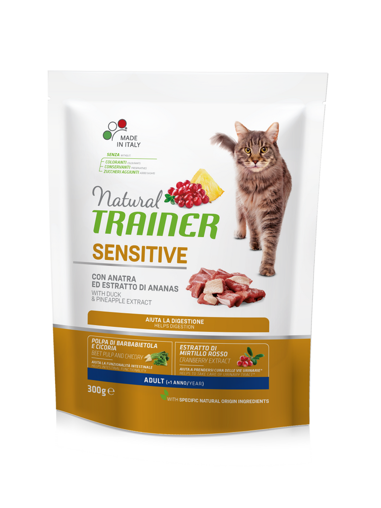 "Croccantini per gatti ""Natural Trainer Sensitive con Anatra"" - Trainer"