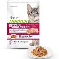 "Bustina per gatto ""Natural Trainer Kitten and Young Cat Bocconcini di Pollo in Salsa"" - Trainer"