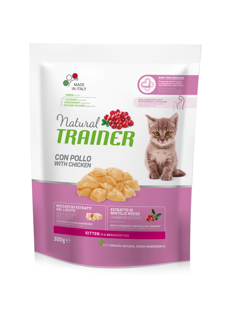 "Croccantini per gattini ""Natural Trainer Kitten con Pollo"" - Trainer"