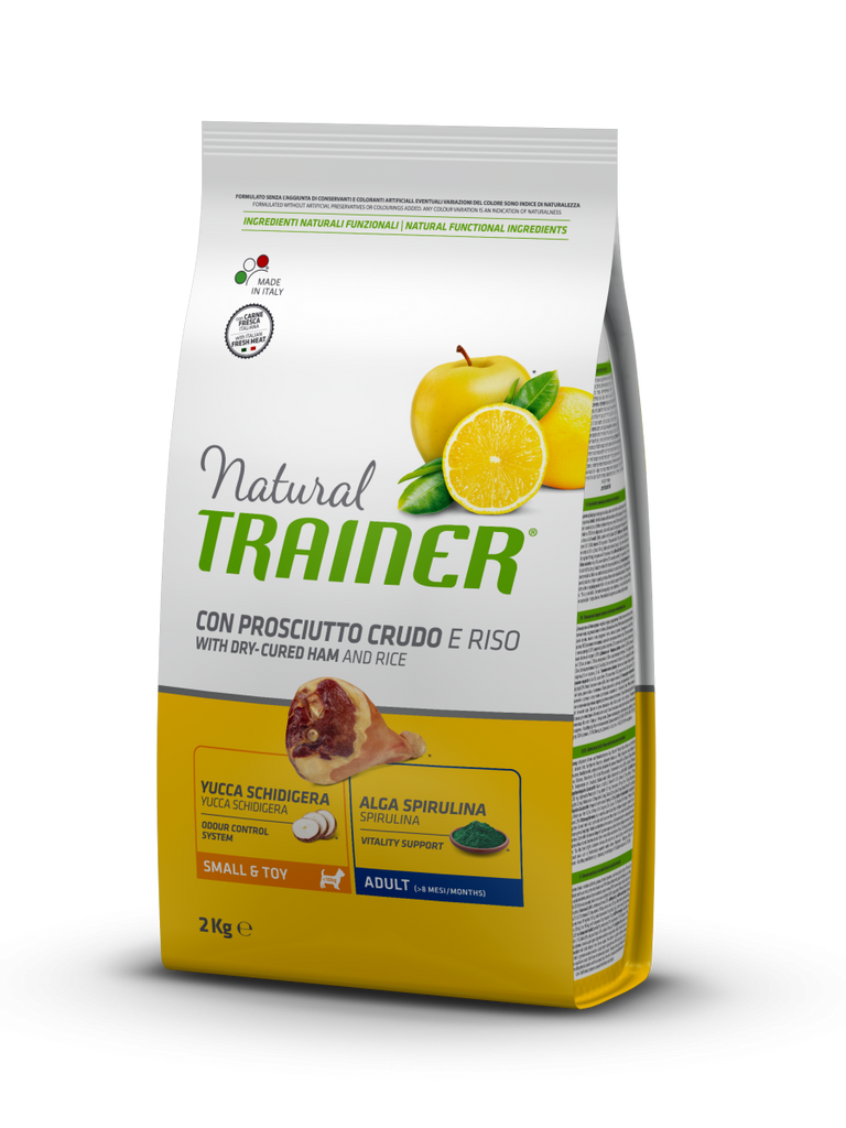 "Croccantini per cani ""Natural Trainer Mini Adult al Prosciutto Crudo"" - Trainer"