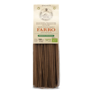 Morelli Pasta Farro Organic Spelt Spaghetti Made in Italy with Wheat Germ 250g
