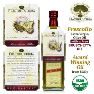 Frescolio Extra Virgin Olive Oil with Free Bruschetta Kit