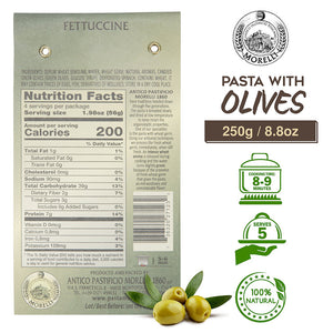 Nutrition Facts for Morelli Fettuccine Pasta with Olives