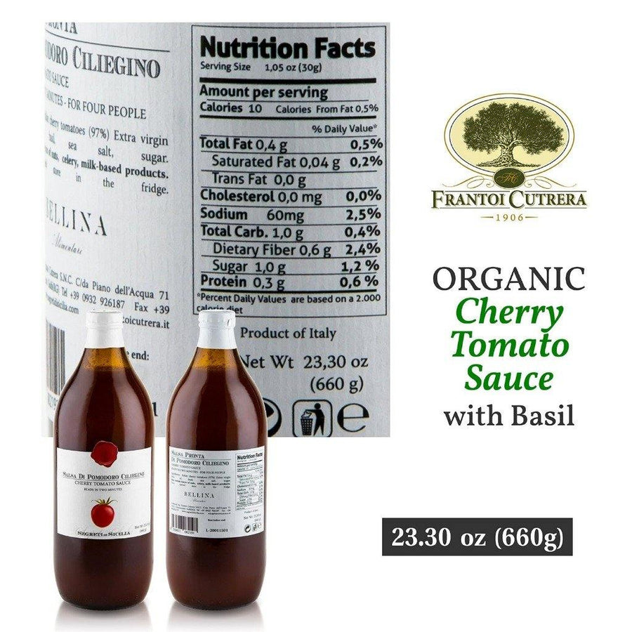 Frantoi Cutrera-Cherry Tomato Sauce Flavored with Basil
