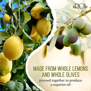 Traditional Cold Press Made with Whole Lemons and Whole Olives