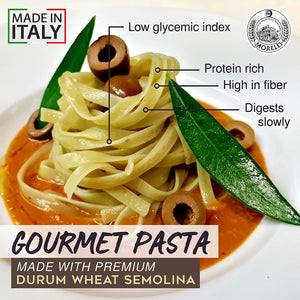 Morelli Fettuccine Pasta with Olives Made in Italy