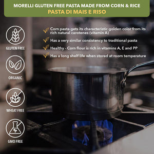 Morelli Gluten Free Pasta Made from Corn and Rice