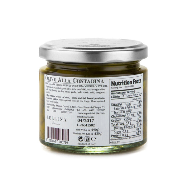 Green Olives Hyblaean herbs in Extra Virgin Olive Oil