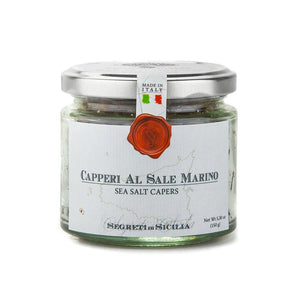 Frantoi Cutrera - Capperi Al Sale Marino - Sea Salt Capers - 5.3oz (150g) - Mercato Di Bellina