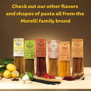 Flavors and Shapes of Morelli Pasta Family Brand