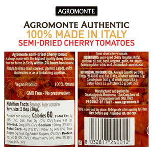 Agromonte Semi-Dried Cherry Tomatoes with Fresh Herbs, Dry Packed, 7.05oz
