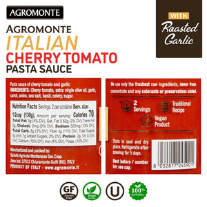 Agromonte Cherry Tomato Pasta Sauce (Roasted Garlic) 9.17oz