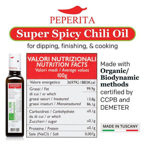 Peperita Super Spicy Chili Oil for dipping, finishing, and cooking