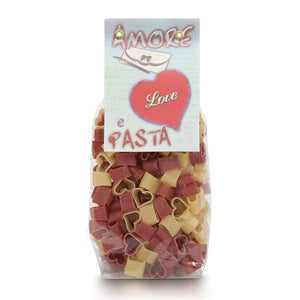 Morelli Heart Shaped Pasta with Tomato & Wheat Germ 8.8oz / 250g