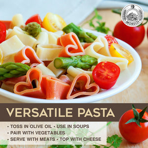 Versatile Heart Shaped Pasta with Tomato and Wheat Germ