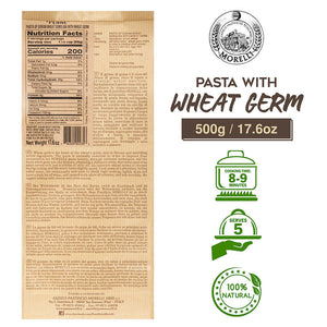 Nutrition Facts for Morelli Penne Pasta with Wheat Germ