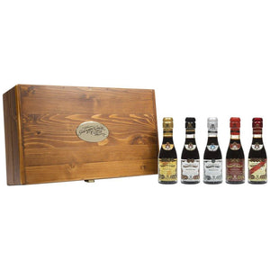 Italian Balsamic Vinegar of Modena 5 Bottles in Wooden Gift Box