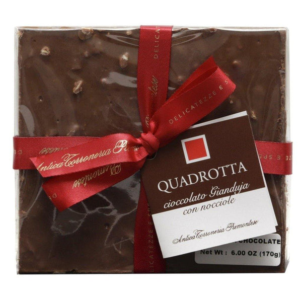 Antica Torroneria Piemontese - Quadrotta Gianduja - Chocolate Bar with Hazelnuts