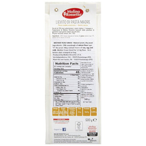 Nutrition Facts for Molino Rossetto Lievito Madre Italian Dried Mother Yeast