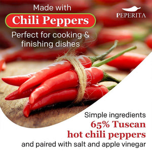Peperita 101 Organic Hot Sauce - Perfect for finishing dishes and cooking
