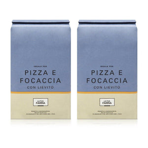 Molino Pasini La Tua Farina Italian Pizza Flour - Flour for Pizza & Focaccia with Yeast - pack of 2