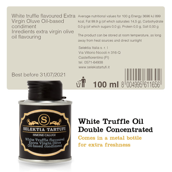 Selektia Tartufi Extra Virgin Olive Oil Condiment with White Truffle Flavor 100ml