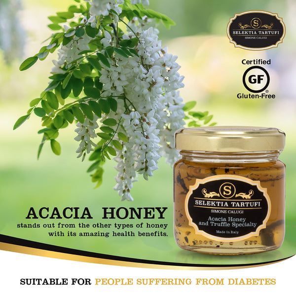 Selektia Tartufi Italian Gourmet Acacia Honey with Black Summer Truffles 110g