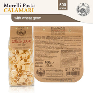 Morelli Germe Di Grano - Calamari Pasta with Wheat Germ Imported from Italy 500g