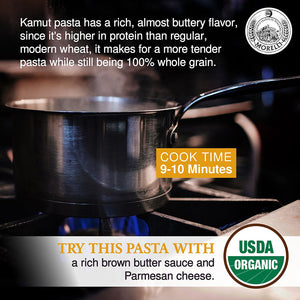 Morelli Kamut Pasta with Rich and Buttery Flavor