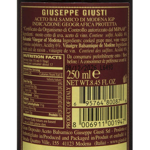 Nutrition Facts for Giuseppe Giusti 3 Medals Sinfonia Balsamic Vinegar of Modena