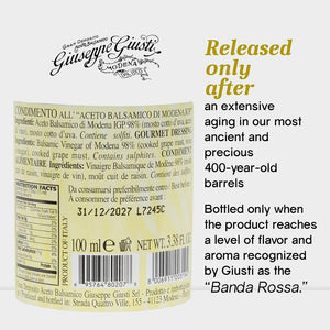 Nutrition Facts for Giusti 5 Gold Medals Banda Rossa Champagnottina Balsamic Vinegar