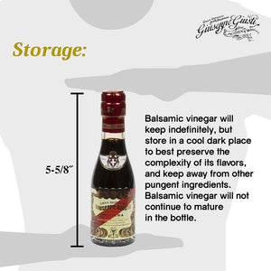 Guiseppe Giusti Balsamic Vinegar Storage Instruction