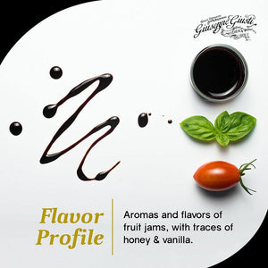 Sinfonia Balsamic Vinegar with Flavor of Fruit Jam, Honey and Vanilla