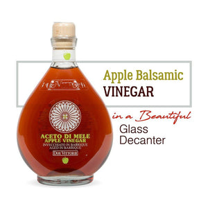 Apple Balsamic Vinegar in a Beautiful Glass Decanter