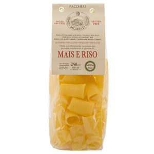 Pastificio Morelli Riso e Mais Paccheri Pasta Made with Rice and Corn, Gluten Free